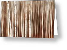 Birches In Motion Greeting Card
