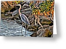 Bird By The Water Greeting Card