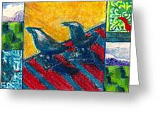 Bird Collage Greeting Card