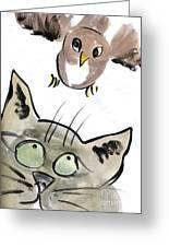 Bird Greeting Card by Ellen Miffitt