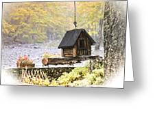 Bird House In Autumn Greeting Card