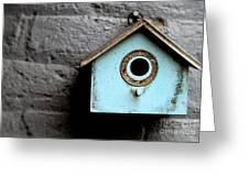 Bird House Of Blue By Diana Sainz Greeting Card