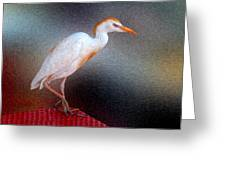 Bird In Faux Oil Greeting Card