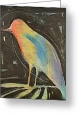 Bird In Gilded Frame Sans Frame Greeting Card