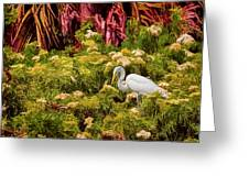 Bird In The Blooms Greeting Card