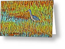 Bird In The Reeds Greeting Card