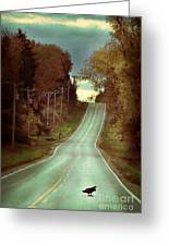 Bird In The Road Greeting Card