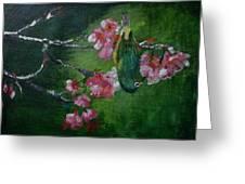 Bird N Blossom.... Greeting Card