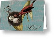 Bird Nest - 02v02t01 Greeting Card