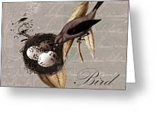 Bird Nest - 02v23c2b Greeting Card