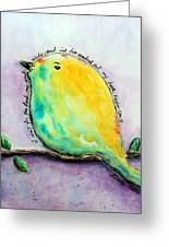 Bird Of Hope Greeting Card by Lauretta Curtis