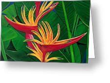 Bird Of Paradise Painting Greeting Card