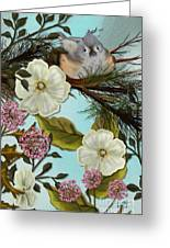 Bird On Pine Branch Greeting Card