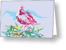 Bird Red Ibis Greeting Card