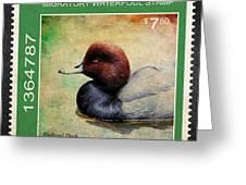 Bird Stamp Greeting Card