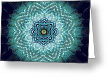 Bird Tail Lotus Mandala Greeting Card