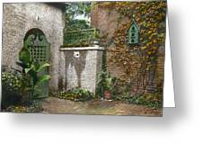 Birdhouse And Gate Greeting Card