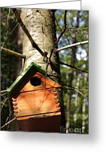 Birdhouse By Line Gagne Greeting Card