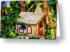 Birdhouse Church Greeting Card