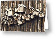 Birdhouse Condominium Greeting Card