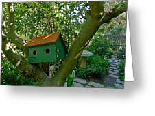 Birdhouse In A Tree Greeting Card