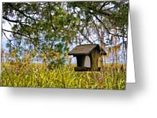 Where The Wild Birds Eat Greeting Card