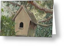 Birdhouse - Just Listed Greeting Card