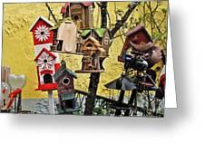 Birdhouse Subdivision Greeting Card