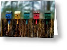 Birdhouse Vignette Greeting Card