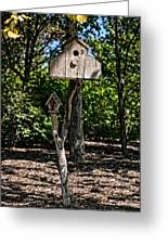 Birdhouses In The Trees Greeting Card