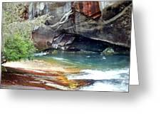 Birdrock Waterfall In Spring 2 Greeting Card