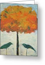 Birds And Maple Greeting Card