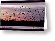 Birds At Sunrise Poster Greeting Card