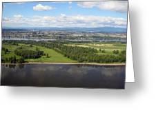 Birds Eye View Of Portland Greeting Card