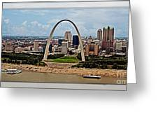 Bird's Eye View Of St.louis  Greeting Card