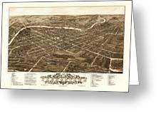 Bird's-eye View Of Youngstown Ohio 1882 Greeting Card
