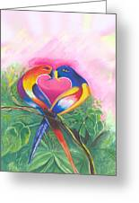 Birds In Love 02 Greeting Card