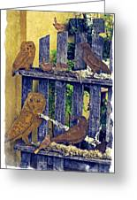 Birds Of A Feather Stay Together Greeting Card