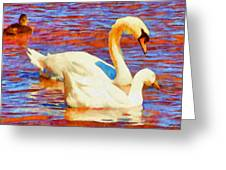 Birds On The Lake Greeting Card