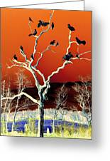 Birds On Tree Greeting Card