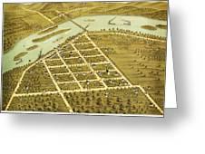 Birdseye View Of Prairie Du Sac Wisconsin 1870 Greeting Card
