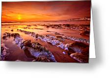 Birling Gap Sunset Greeting Card by Mark Leader