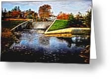 Birmingham Mi Waterfall Greeting Card