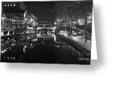 Birmingham Old Canal Bw Greeting Card