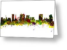 Birmingham Uk City Skyline Greeting Card