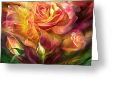 Birth Of A Rose - Sq Greeting Card