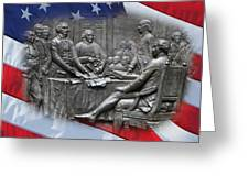 Birth Of Independence Greeting Card