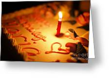 Birthday Cake With Candle Greeting Card