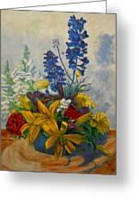 Birthday Flowers 1 Greeting Card by Brian  Pinkey