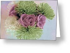 Birthday Flowers Three Greeting Card